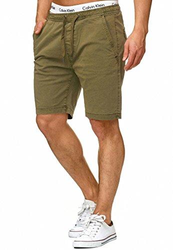 Indicode Caballero Kelowna Pantalones Cortos Chinos con 4 Bolsillos y cordón de 98% algodón | Más Corto Pantalón Regular Fit Bermudas Verano Men Pants Chino para Hombres