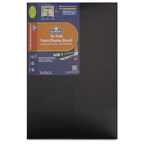 """Elmer's 36"""" x 48"""" Tri-Fold Foam Presentation Board - Black"""