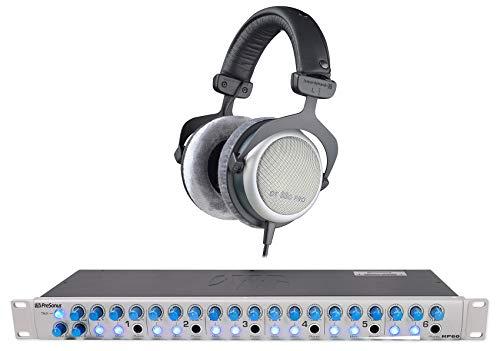 Beyerdynamic DT-880-PRO-250 Semi Open Studio Reference Monitor Headphones Bundle with Presonus HP60 6-Channel Amplifier Headphone Amp w/ Talkback & A/B Input Mix