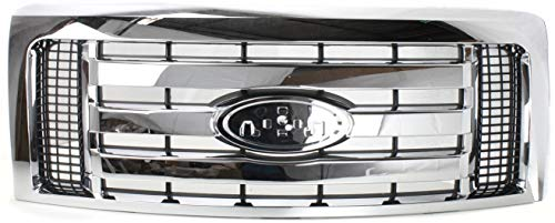 Evan-Fischer Grille Assembly Compatible with 2009-2012 Ford F-150 Plastic Chrome...