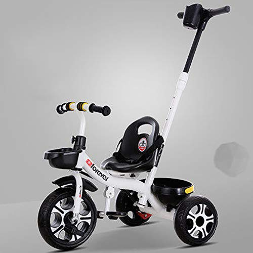 SSLC Kids Trike driewieler, 2-in-1 duwen langs Trike met ouderhandvat en kinderen driewieler fiets veilig ontwerp - leeftijden 15 maanden +