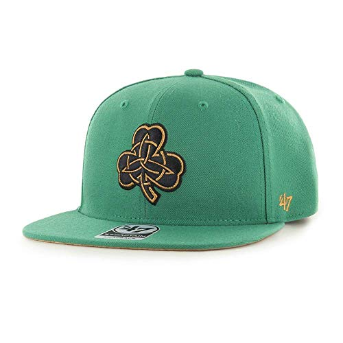 '47 Boston Celtics City Edition Adjustable Kelly Green Snapback Cap - NBA Street Style Flat Bill Baseball Hat