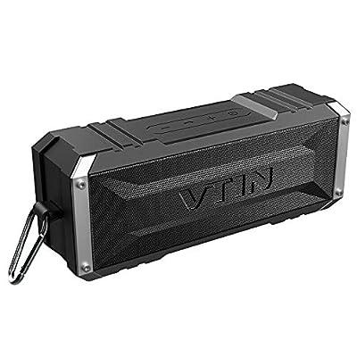 Vtin Punker Portable Bluetooth Speaker, 20W Loud Stereo Sound, 30H Playtime, Waterproof IPX5, Bluetooth Wireless Built-in Speakerphone, Shockproof Splashproof Outdoor Speakers by VicTsing