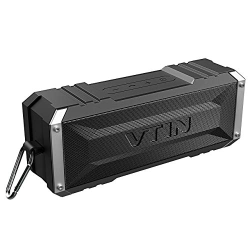 Vtin Punker Portable Bluetooth Speaker, 20W Loud Stereo Sound, 30H Playtime, Waterproof IPX5, Bluetooth Wireless Built-in Speakerphone, Shockproof Splashproof Outdoor Speakers