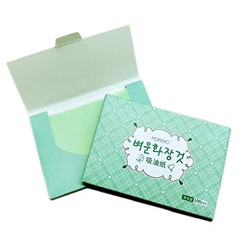 SPRK 100sheets / Pack Grüner Tee Gesichtsöl Blotting Blatt Papier Reinigung Gesicht Oil Control saugfähiges Papier Beauty Make-up-Tools
