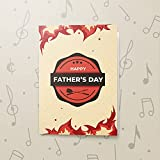 Singing Greeting Card For Dad   Musical Father's Day Card, Happy Father's Day, Recordable Card For Dad, Dad Gifts 10594 (10sec Recordable)