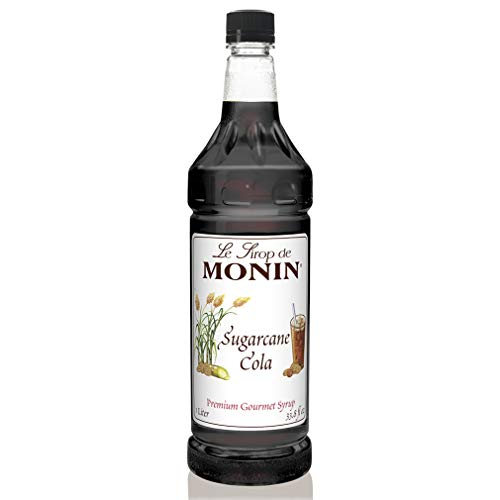 Monin - Sugarcane Cola Syrup, Authentic Cola Flavor, Great for Soda, Floats, and Slushes, Gluten-Free (1 Liter)