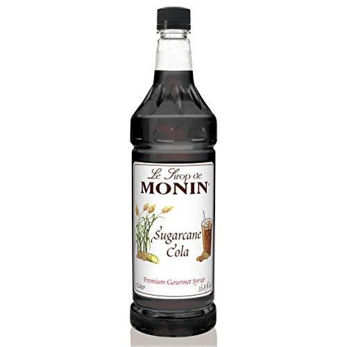 Monin Sugarcane Cola Syrup, 33.8 Fl Oz (Pack of 1) PET Bottle