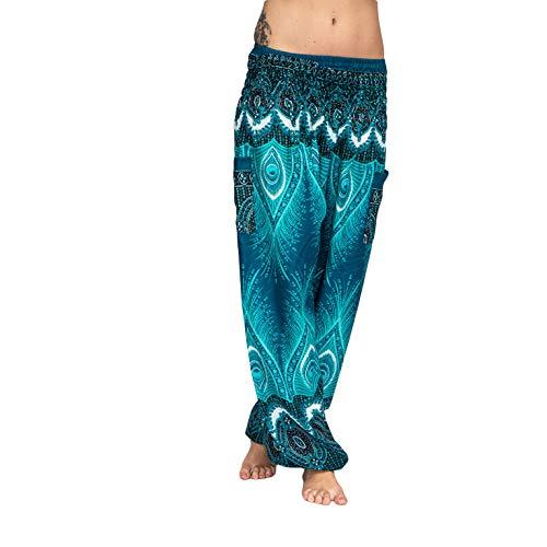 Mienloco Haremshose Pumphose Aladinhose Pluderhose Baggy Goa Ballon Yoga Hose (P9)