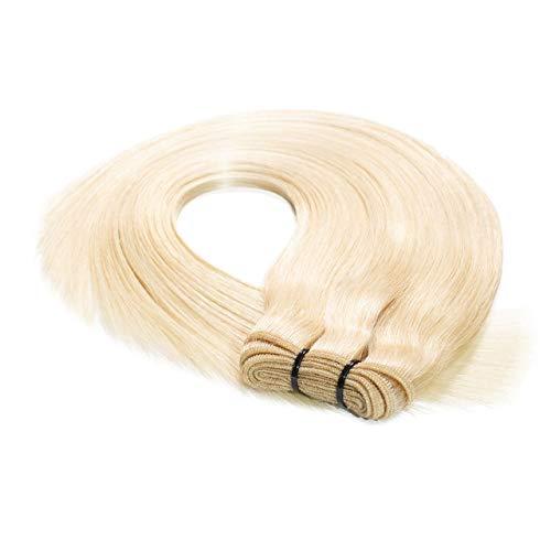 hair2heart Premium 100g REMY Echthaar-Tresse - glatt - 60 cm - #60 lichtblond