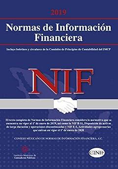 Carátula Normas de Información Financiera (NIF) 2019