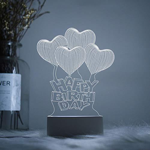 USB wiederaufladbare LED-Buchleuchte, Bettleseleuchte, LED-Lichtklemme eingebaute Batterie zum Lesen von Büchern, Zeitschriften usw. Alles Gute zum Geburtstag Luftballons