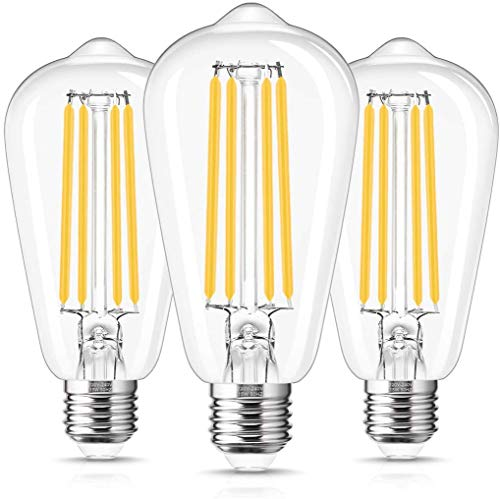 Lampadina LED E27 a Filamento, 15W Equivalenti a 140W, Luce Bianca Calda 2700K, 1500LM, Non Dimmerabile, Confezione da 3 [Classe di efficienza energetica A+]