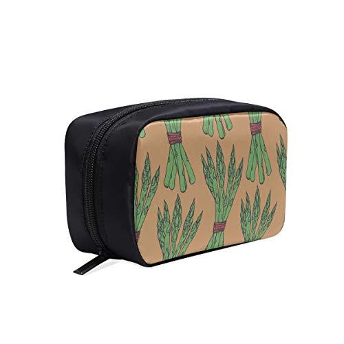Sac à cosmétiques zippé vert mode forêt pousses de bambou femme sac de toilette de voyage femme sac de salle de bain sac de voyage enfants sacs à cosmétiques étui multifonctionnel sac de voyage arti