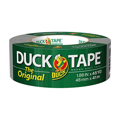 The Original Duck Tape Brand 394468 Duct Tape, 1-Pack 1.88 Inch x 45 Yard Silver,B-450-12,Gray