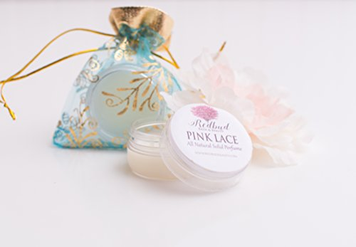 Womens Solid Perfume Fragrance .50 oz 'Pink Lace' Floral All Natural Perfume