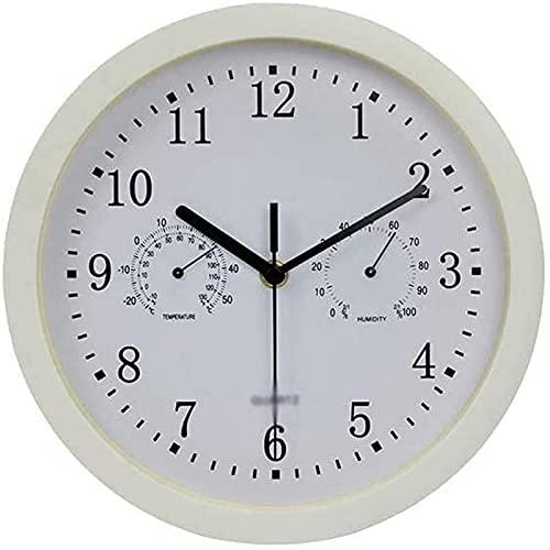 QHCS Reloj de Pared Simple Reloj de Pared Moderno de 10 Pulgadas Reloj de Cuarzo silencioso y sin tictac para Sala de Estar Arte Decor del hogar