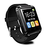 CHEREEKI Bluetooth Smart Watch 1.44'' Pouces Montre Intelligente avec Ecran Tactile Supporte Podométre Composer etc. Compatible pour Android Smartphone Samsung HTC Sony LG G5 Blackberry Huawei