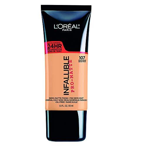 L'Oreal Paris L'oreal paris base de maquillaje infallible matte 24h, 107 fresh beige, 30 ml Fresh Beige 107
