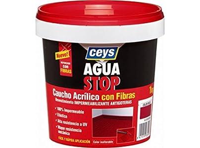 Aguastop Ceys M92283 Impermeabilizante aquastop caucho acrilico con fibras rojo 1 kg