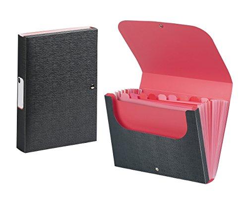 Viquel 166188–01–Clasificador de escritorio acordeón, rojo