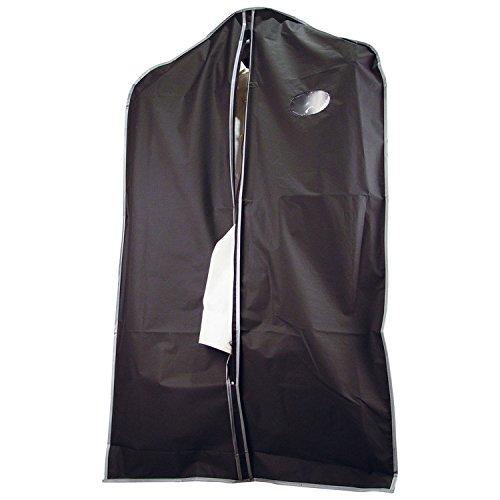Beschermhoes voor kleding, met kijkvenster en ritssluiting, kleur: zwart