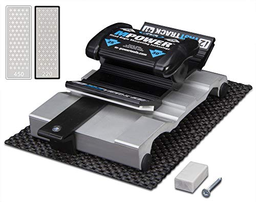 "MPOWER FASTTRACK Sharpener Mk2 - Precision Diamond Sharpening for Chisels and Plane Blades - Guarantees Flat Ground, Razor Sharp Edges Every Time - Inc. 2 x 3"" Premium Diamond Stones"