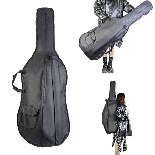 Leepesx 1/4 Bolsa para violonchelo Mochila Bolsa de transporte Bolsa de transporte suave con correa para el hombro Mango lateral Accesorios para violonchelo Bolsillos con lazo Negro