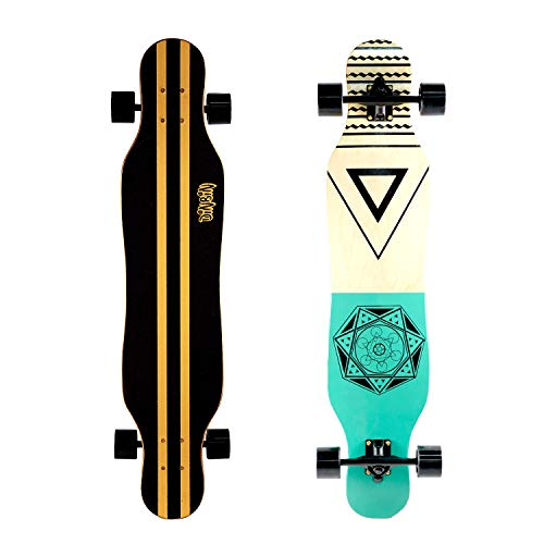 DINBIN 41 Inch Drop Through 8 Ply Maple Complete Longboards Skateboard,Cruising,Freeride Slide,Freestyle and Downhill Freestyle Cruiser for Teens or Adults