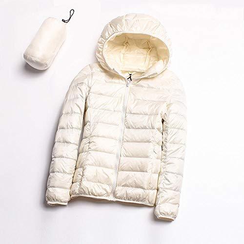 ADXD Leichte Daunenjacke Damen Daunenjacke mit Kapuze Kurz Damen Winter XL Jacke, weiß, XX-Large