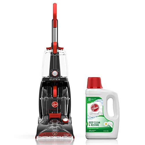 Hoover Power Scrub Elite Pet Carpet Cleaner with Renewal Carpet Cleaning Solution (64 oz), FH50251, AH30924