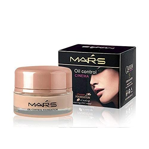Mars Oil Control Cinema Foundation 24 Hours of Make-up Moisturizing with Accessories (Natural, 30ml)