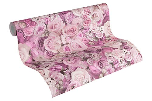 A.S. Création Vliestapete Urban Flowers Tapete floral 10,05 m x 0,53 m lila Made in Germany 327224 32722-4