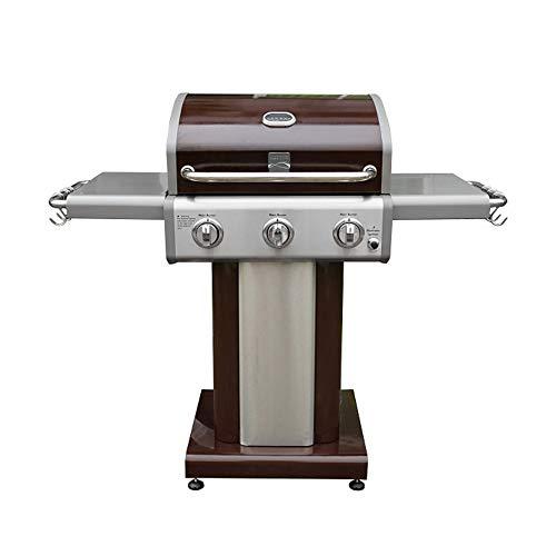 Kenmore PG-4030400L-AM 3 Burner Outdoor Patio Gas BBQ Propane Grill, Dark Mocha Grills Propane