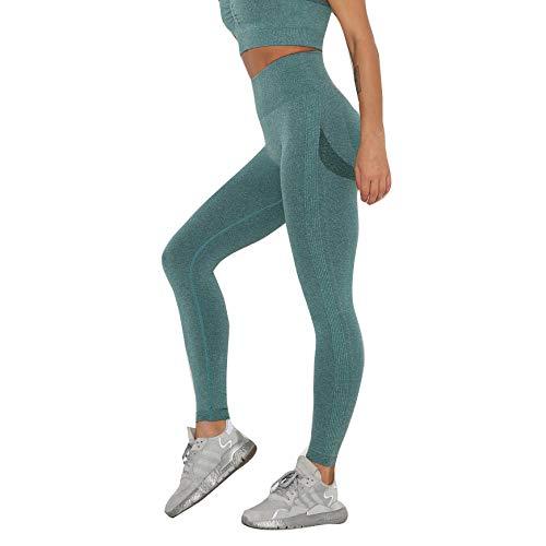 SUIYI Temporada de Verano Pantalones Yoga Mujeres Verde Yoga Pantalon Elásticos Cintura Alta Leggings para Yoga para Mujer Pantalones De Yoga De Cintura Al