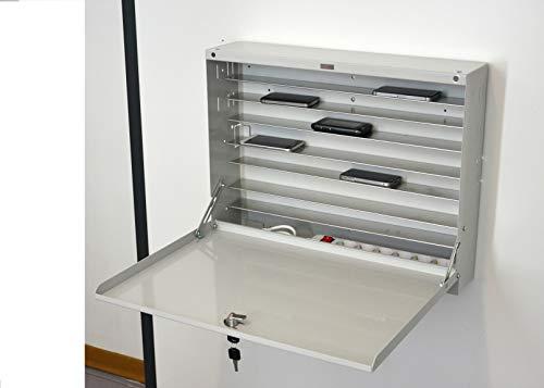 Armadietto di sicurezza per cellulari a parete in acciaio con serratura tecnidea CPC1