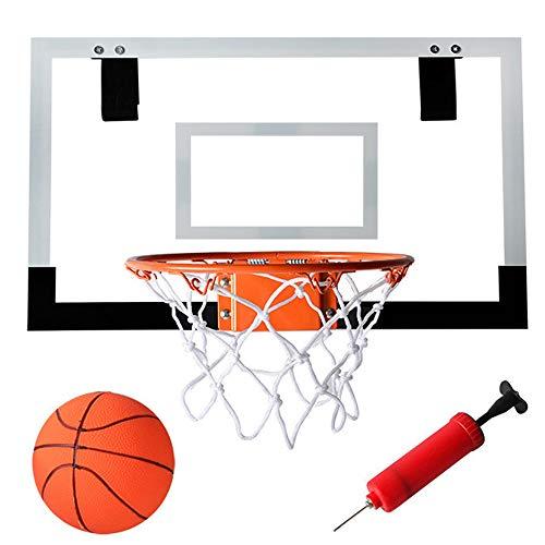 LOVEHOUGE Aro De Baloncesto para Niño,Montaje En Pared Mini Juego De Juguetes De Tablero De Baloncesto con Bola Y Bomba,Uso Interior O Exterior,Punch-Free