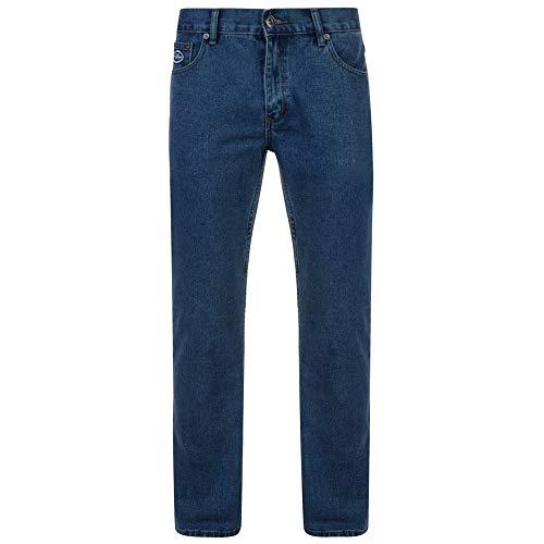 Kam Jeans F101 da uomo, casual, da lavoro, vestibilità comoda, lunghezza 3 gambe, vita da 121,9 cm Stonewash 58 Lungo