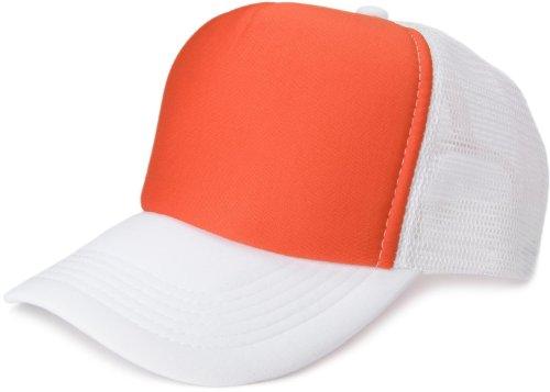 styleBREAKER styleBREAKER 5 Panel Mesh Cap 04023007 (Orange-Weiß)