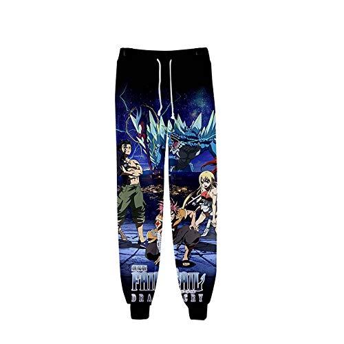 shuihua Anime Hombre 3D Impreso Cola de Hadas Cosplay Pantalones Sweetstring Sweetpants Gym Joggers Casual Pants (Color : 1, Size : S)