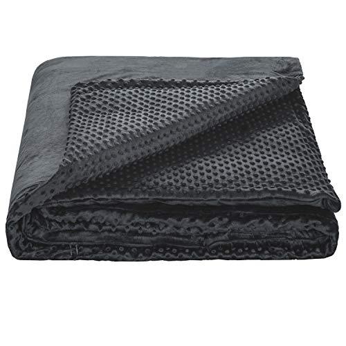 BEDSURE Gewichtsdecke Bezug/Bezüge für schwere Decke Therapiedecke Bezug, abnehmbare und abwaschbare Weighted Blanket Cover Bezüge für Erwachsene, 150x200 cm in Grau