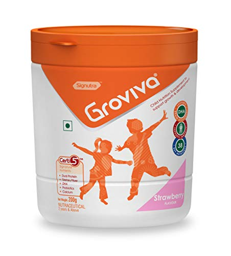 Groviva Child Nutrition Supplement Jar - 200g (Strawberry)