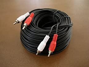 ANiceS 100FT 2 RCA Male to 2 RCA Male Dual Stereo Audio Patch Cord Male Cable