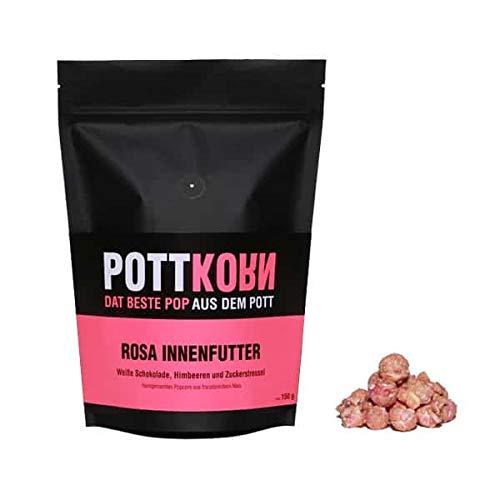 Pottkorn - Dat Beste Pop aus dem Pott - Rosa Innenfutter mit weißer Schokolade, Himbeeren und Zuckerstreuseln 80 g