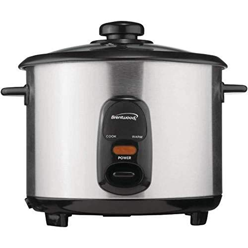 Brentwood Rice Cooker, 10-Cup, Stainless Steel New York