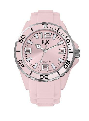 Haurex Damen Analog Quarz Uhr mit Gummi Armband SP382DP1