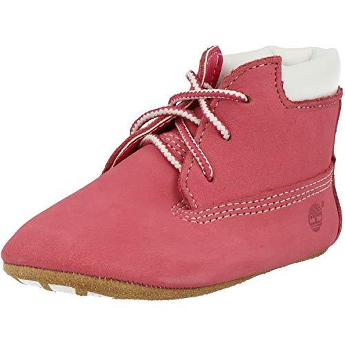 Timberland Crib Bootie with Hat (Infant), Stivali Unisex-Bambini, Rosa Medium Pink Nubuck, 17 EU