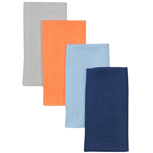 Price comparison product image Gerber 4pk Prefold Birdseye Boy Diaper / Burp Cloths Navy / Orange