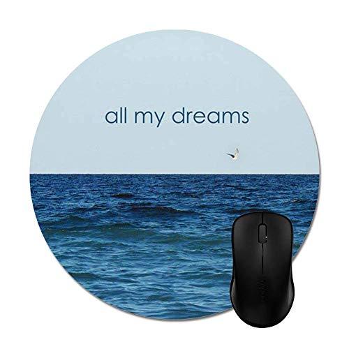 Mausepad Alle Meine Träume Meer Meer Wasser Gedruckt Gaming Mat Office Mode Mousepads Mousepad Gaming Rutschfester Computer Benutzerdefinierte Bunte Sonderschule Langlebig