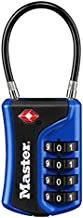 Master Lock 4697D Set Your Own Combination TSA Approved Luggage Lock, 1 Pack, Assorted Colors